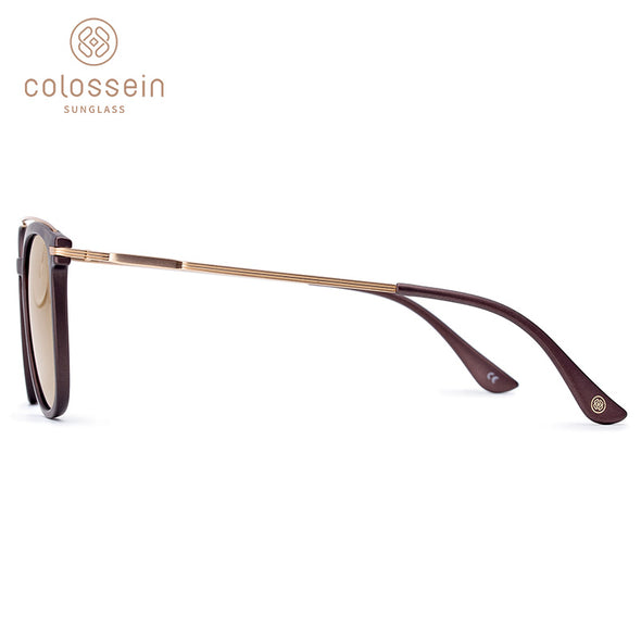 Square Brown Gradual Light Stylish Sunglasses