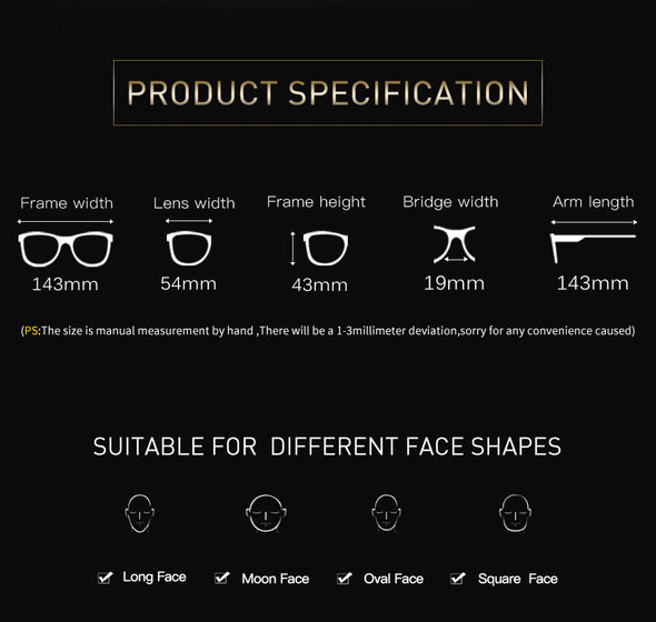 Square Mens Designer Sunglasses