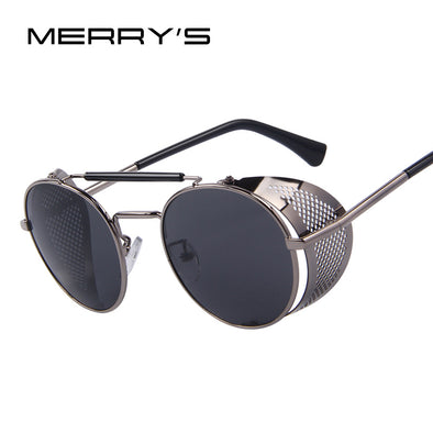 MERRY'S Women Retro Design Round Steampunk Sun glasses Oculos de sol UV400 - myglassesmart.com