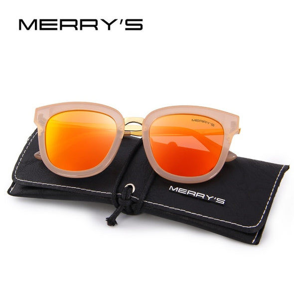 MERRY'S Women Classic Cat Eye Polarized Sunglasses Fashion Sun Glasses Metal Temple 100% UV Protection S'6082 - myglassesmart.com