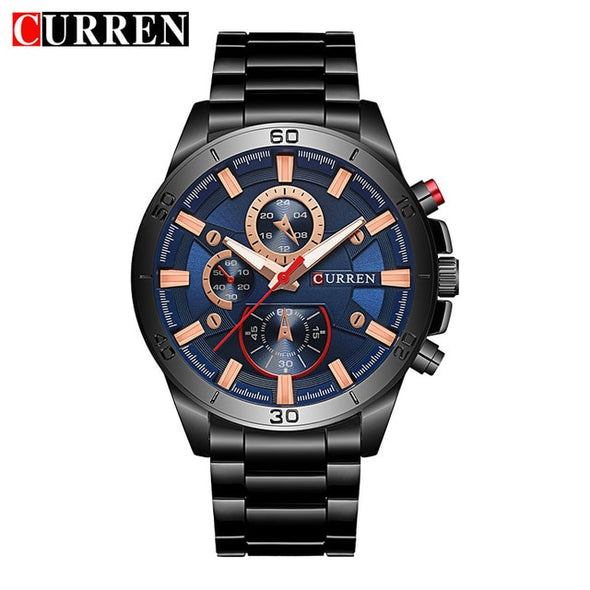 Curren 8275 new 2017 top brand luxury Watch Men relogio masculino quartz watch fashion casual alloy wristwatches - myglassesmart.com
