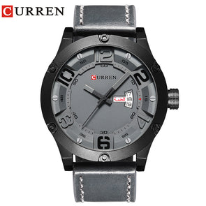 CURREN 2017 fashion top new Luxury Brand Relogio Masculino week Date diaplay Leather strap Men Sports Watches Quartz Clock 8251 - myglassesmart.com