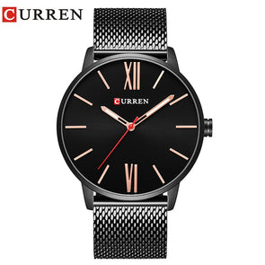 CURREN Brand 2017 tops Simple Minimalism luxury Quartz wrist Watches for men relogio masculino black / gold stainless steel 8238 - myglassesmart.com