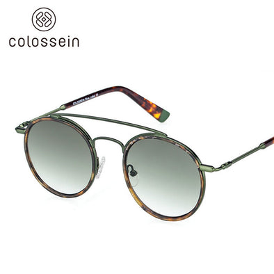 Round Green Retro Sunglasses
