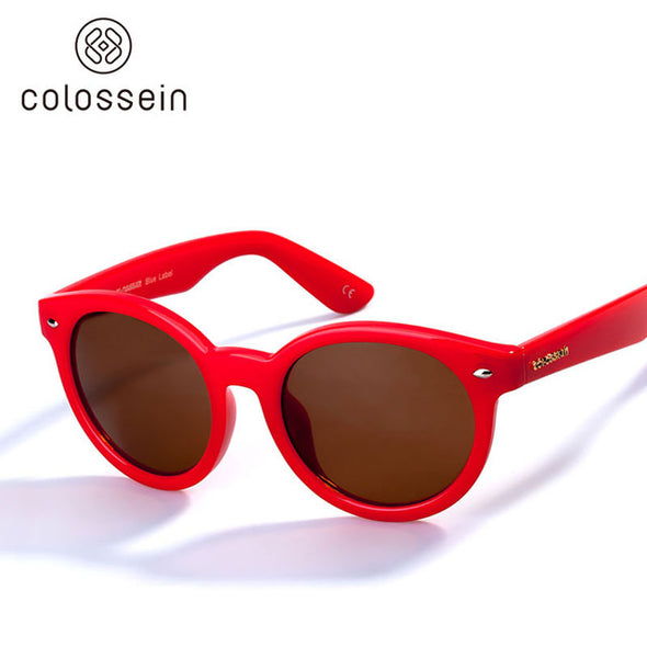 Red Frame Round Polarized Sports Stylish Sunglasses for Women