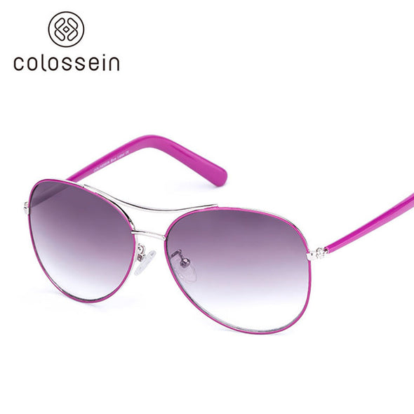 Oval Purple Pilot Stylish Sunglasses for Women