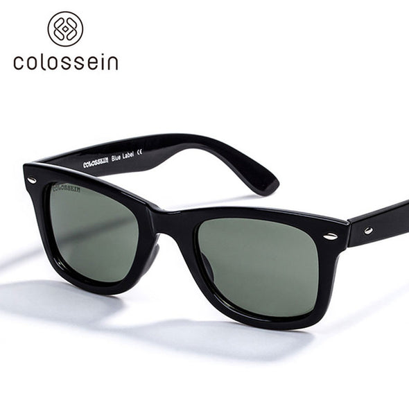 COLOSSEIN Retro Sunglasses Rivet Trim Collocation Style Women - myglassesmart.com