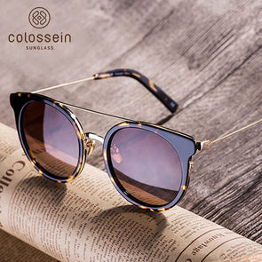 Brown Cat Eye Polarized Stylish Sunglasses for Women