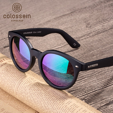 Black Frame Round Polarized Sports Stylish Sunglasses for Women