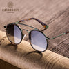 Round Brown Retro Sunglasses
