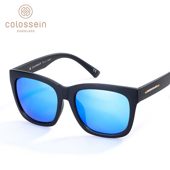 Square Blue Unisex Driving Sunglasses