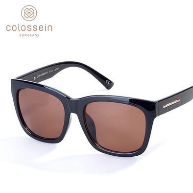 Square Brown Unisex Driving Sunglasses