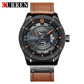 CURREN 8301 Top Brand Luxury watch men date display Leather  creative Quartz Wrist Watches relogio masculino - myglassesmart.com