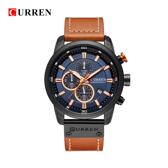 CURREN 8291 Luxury Brand Men Analog Digital Leather Sports Watches Men's Army Military Watch Man Quartz Clock Relogio Masculino - myglassesmart.com