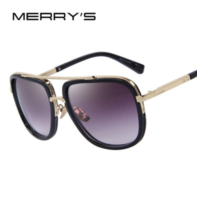 MERRY'S Fashion Men Sunglasses Classic Women Brand Designer Metal Square Sun glasses UV400 - myglassesmart.com