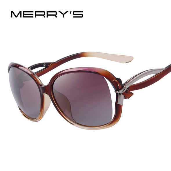 MERRY'S Women Brand Designer Polarized Sunglasses Fashion Bowknot Women Sunglasses Hollow out Lens 5Color High quality - myglassesmart.com