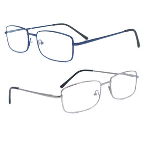 Reading Glasses Readers Metal Deluxe Rectangular for Men - myglassesmart.com