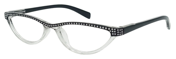 Small Cat Eye Reading Glasses 4 Color Choice Rhinestone Readers - myglassesmart.com