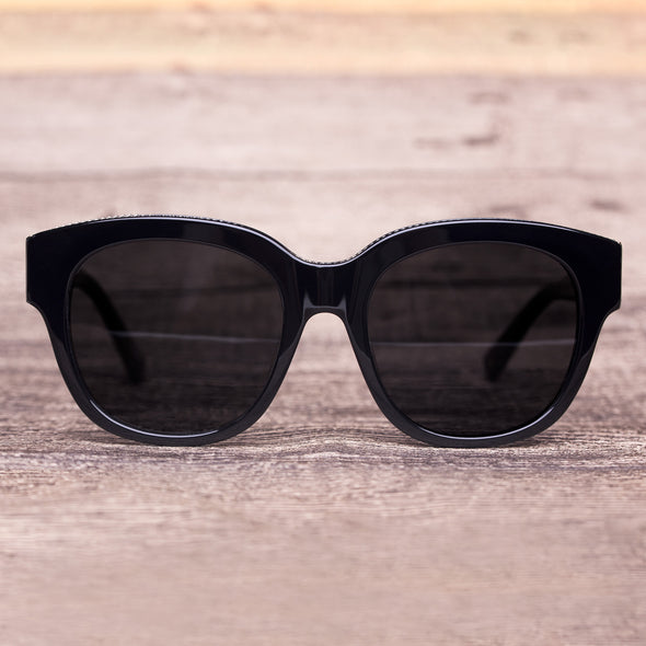 Round Black Designer Jessica Stylish Sunglasses