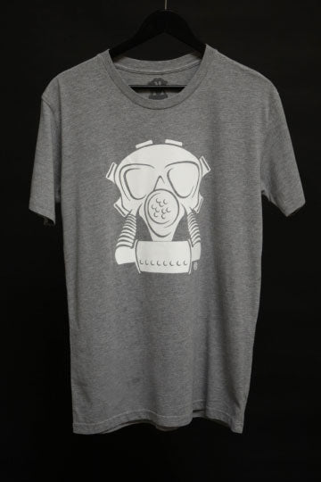 GAS MASK T SHIRT GREY
