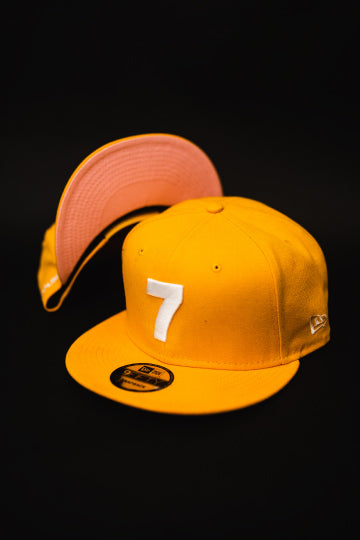 CMPD NEW ERA '7' ROYAL GOLD/PINK SNAPBACK