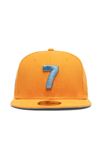 CMPD x CONCEPTS x NEW ERA '7' FITTED HAT (ORANGE/NEW BLUE)