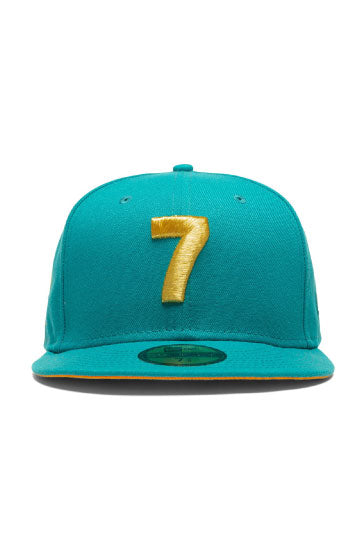 CMPD x CONCEPTS x NEW ERA '7' FITTED HAT (OCEAN BLUE/ORANGE)