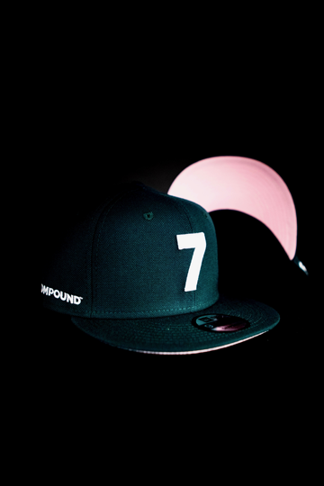 CMPD NEW ERA '7' EMERALD/PINK SNAPBACK