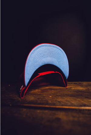 CMPD NEW ERA '7' SCARLET/BLUE SNAPBACK