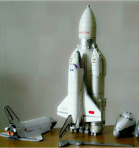 Storm Snow Space shuttle Energy Number Carrier Rocket Puzzle Handmade