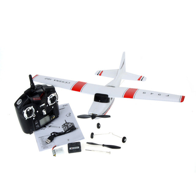 F949 2.4G 3 Coreless Motors RC Airplane Long Distance Flying Fixed Wing Plane