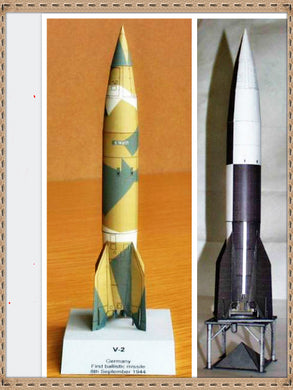 V-2 Rocket 3D High Simulation Space Paper Model Handmade Toy