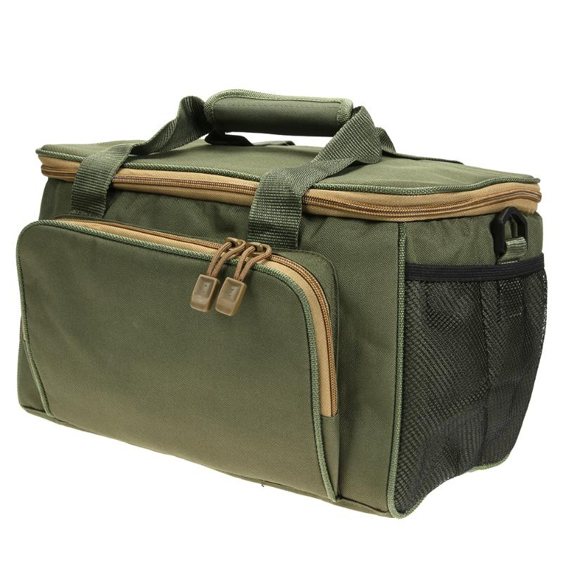Army Green Fishing Bag Canvas Multifunctional Outdoor Waist Shoulder Bags Fishing