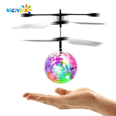 Colorful Mini Drone LED RC Flying Ball Helicopter