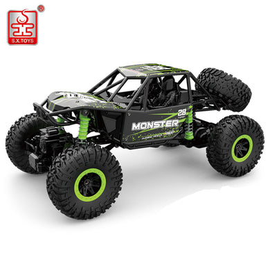 S.X.TOYS RC Car 4WD 2.4GHz Rock Crawlers Rally Climbing 4x4 Double Motors Bigfoot