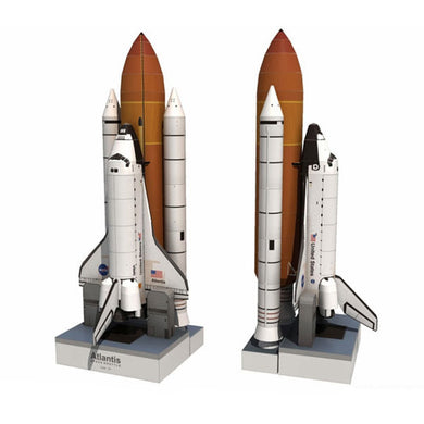 Space Shuttle Atlantis Puzzle Handmade Paper Model Rocket 1:150 Scale High 34cm