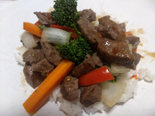 Beef & broccoli with rice (GF, DF) - CTK