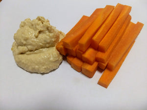 Carrot sticks with hummus (GF, DF, V) - CTK