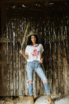 Cowgirl Tee- color on white