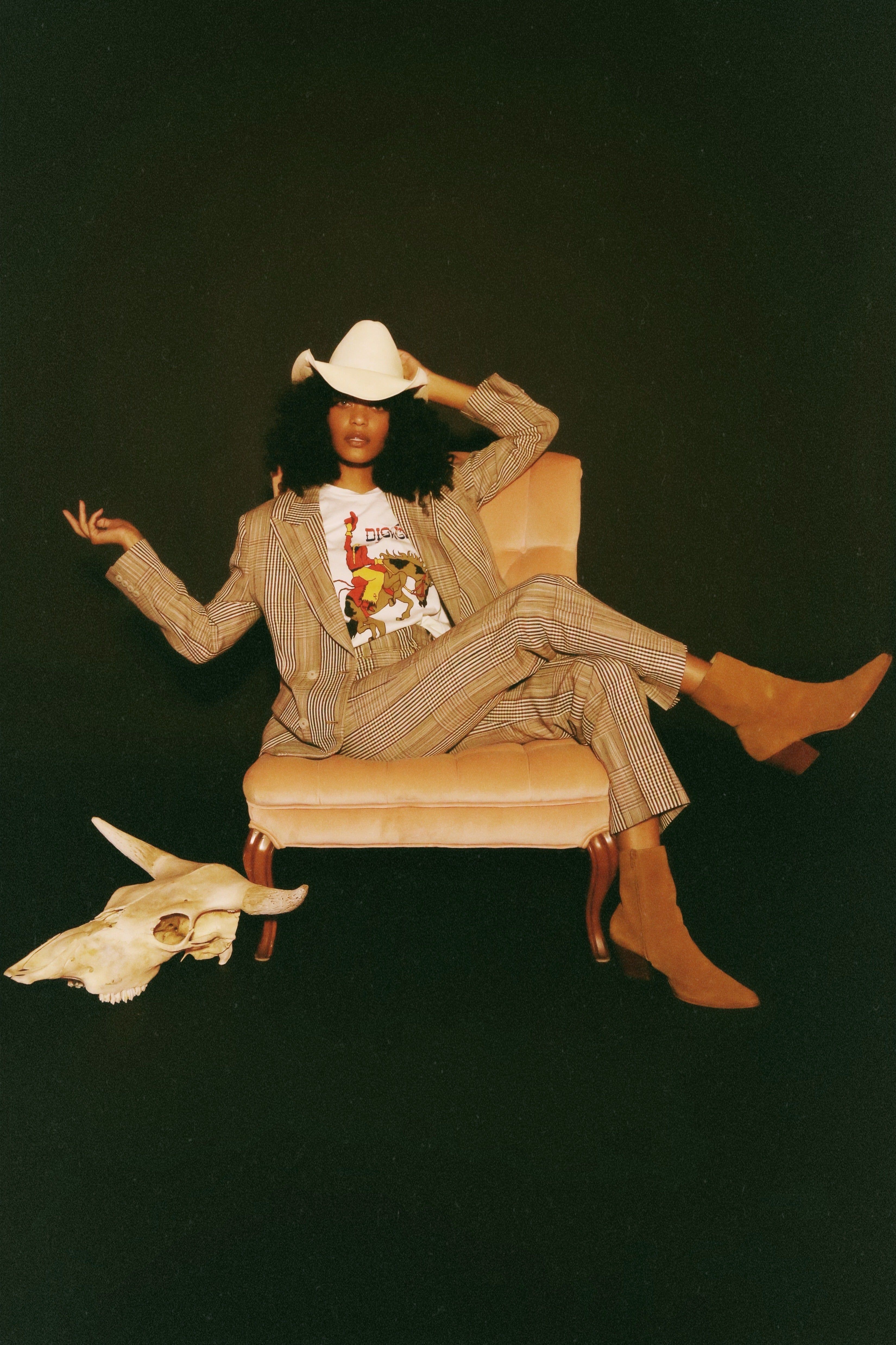 Rodeo Queen Tee- dirty white