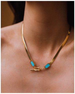Snake Chain Necklace- gold