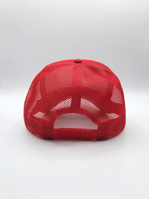 Foam Trucker Hat- white on red