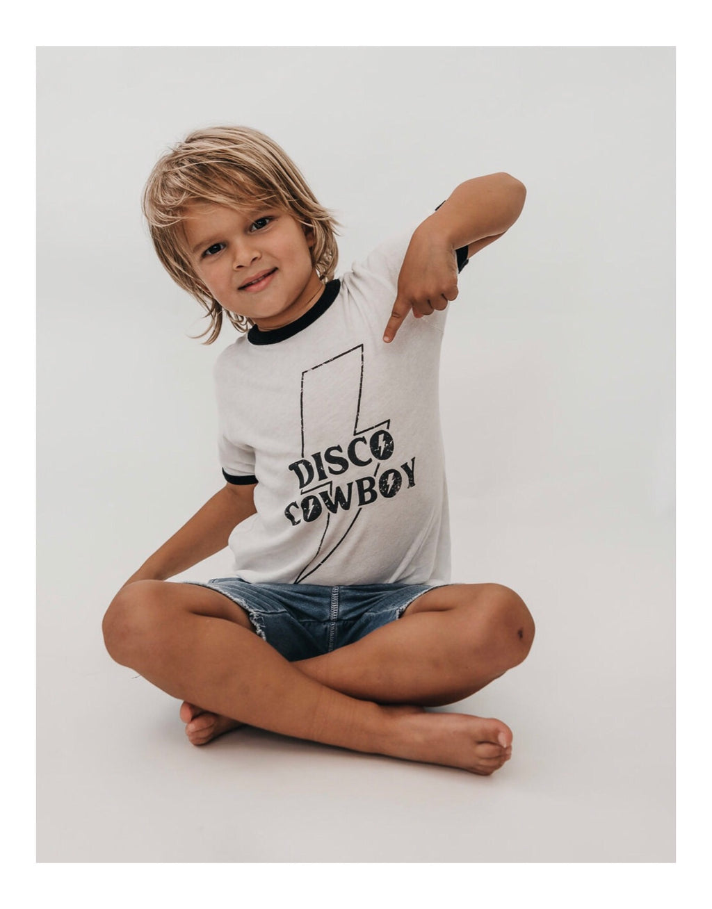 Little Disco Cowboy Ringer Tee
