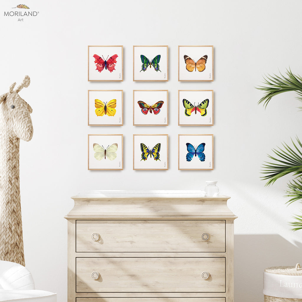 watercolor butterflies printable set by MORILAND