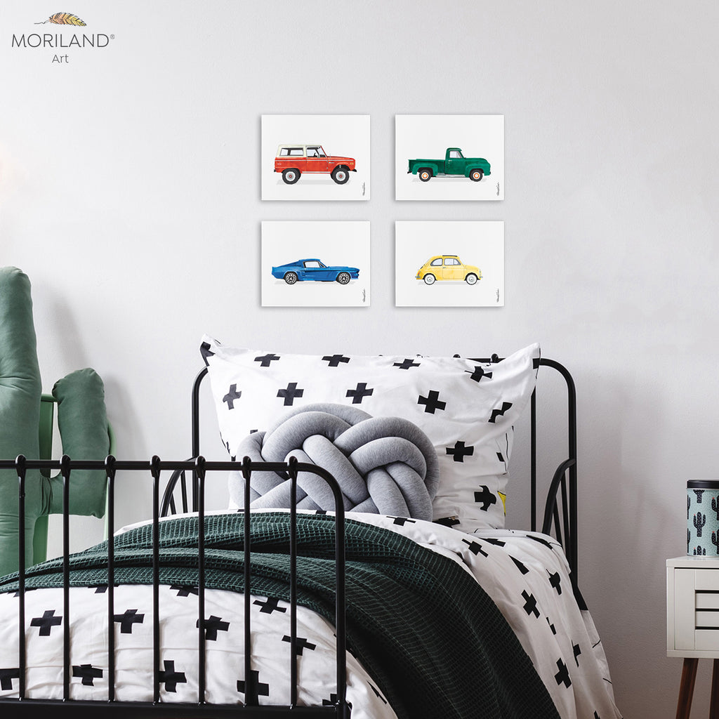 Classic cars set for boy bedroom decor by MORILAND