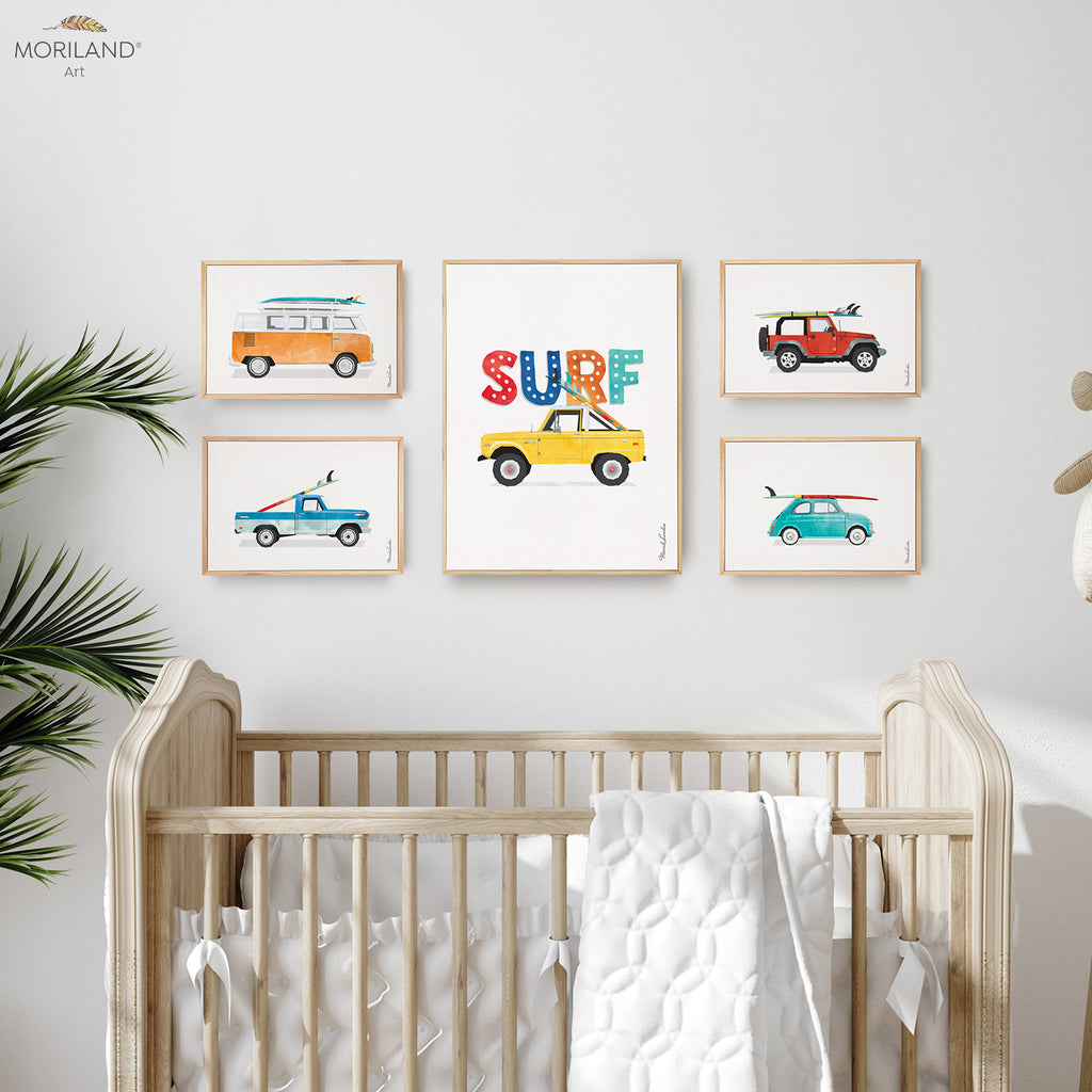 Surf Themed bedroom framed art prints decor by MORILAND