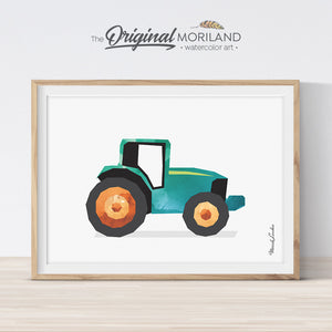 Tractor Print, Tractor Printable, Tractor Decor, Tractor Birthday Party, Boy Room Nursery Art, Transportation, Farm Vehicles Preschool