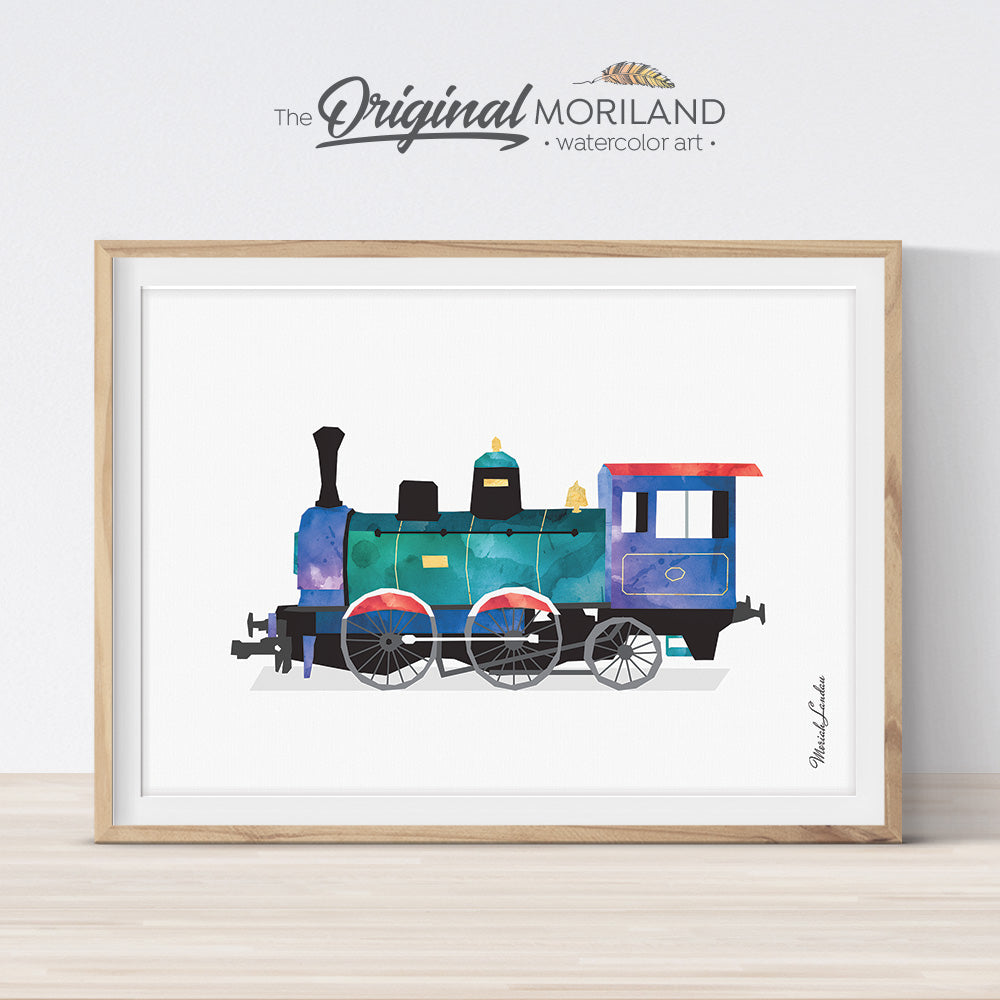 Old Train Print Printable Art Moriland