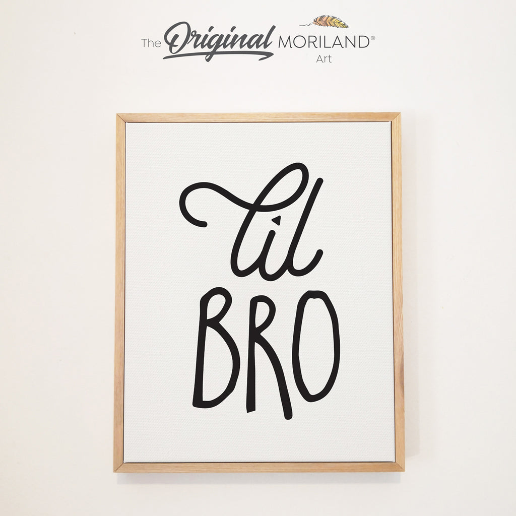 lil bro little brother framed print sign by MORILAND