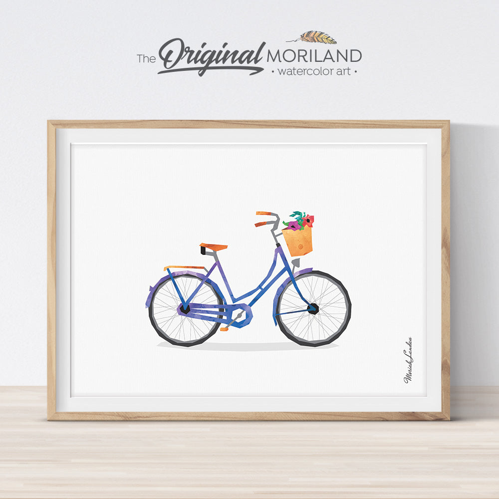 Vintage Bicycle wall art digital download